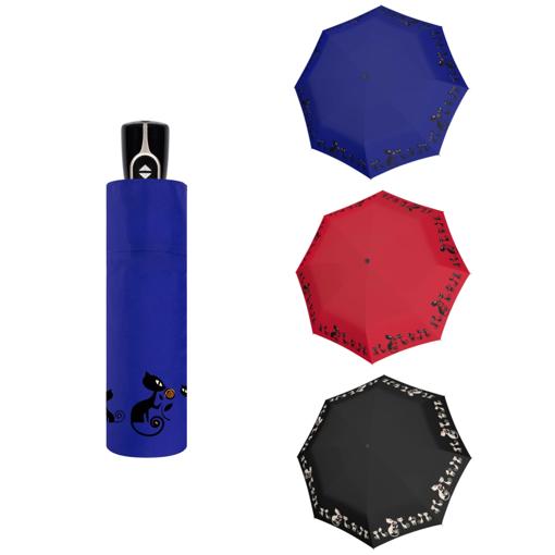 Obrázok z Doppler Magic Fiber CATS Dámsky plne-automatický dáždnik s mačkami