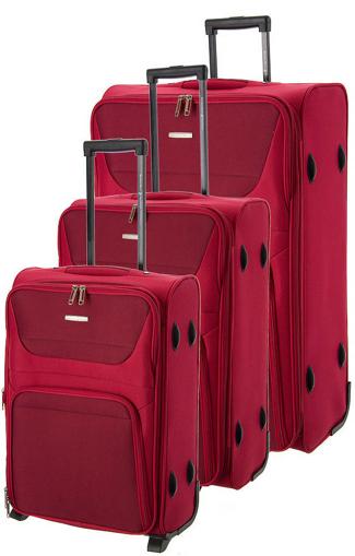 Obrázok z Cestovní kufry set 3ks BHPC Travel S,M,L BH-237-02 červená 178 L