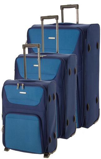 Obrázok z Cestovní kufry set 3ks BHPC Travel S,M,L BH-237-05 modrá 178 L