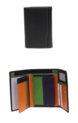 Obrázok z Peněženka Carraro Multicolour 838-MU-01 černá
