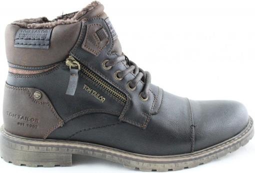 Obrázok z Tom Tailor 9082302 Pánska členková obuv čierna