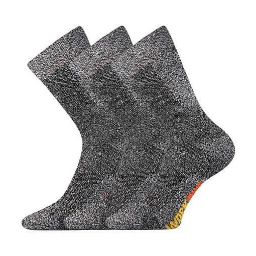 Obrázok z BOMA ponožky Pracan šedá melé 3 pár