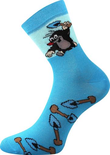 Obrázok z BOMA ponožky Krtek mix 2 / kluk-lopatka 1 pár