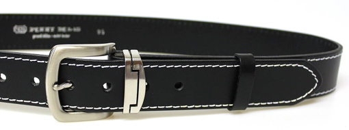 Obrázok z PENNY BELTS 09NKS-1B Pánsky kožený opasok čierny