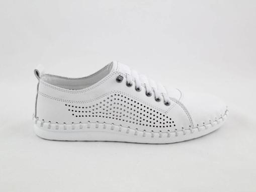 Obrázok z Wild 646019A.01 White Dámska celokožená obuv
