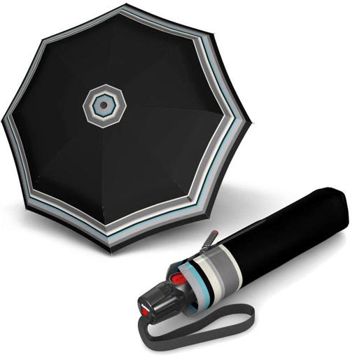 Obrázok z Knirps T.200 Medium Duomatic Grace Black Dámsky plne automatický dáždnik