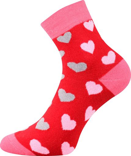 Obrázok z BOMA ponožky Pruhana 15 srdíčka 1 pár