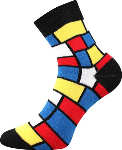Obrázok z BOMA ponožky Pruhana 15 modrian 1 pár