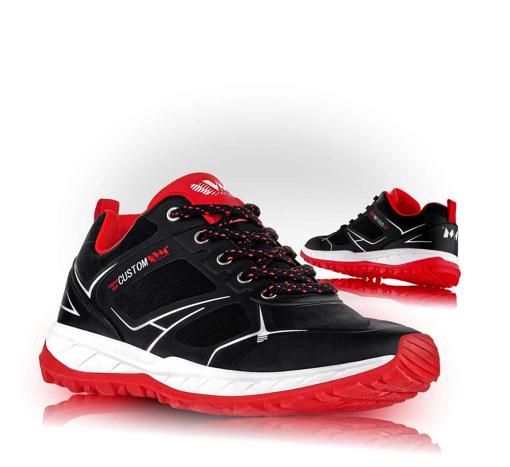 Obrázok z VM Footwear Melbourne 4805-35 Outdoorové softshellové topánky červené