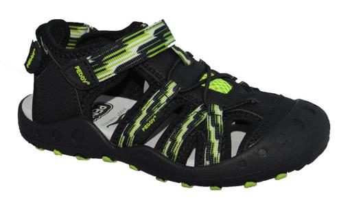 Obrázok z Peddy P6-512-26-01 Detské sandále čierne