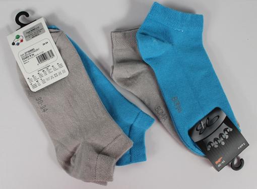 Obrázok z BOMA ponožky ČENĚK B 2pár mix / šedá + modrá 10 pack