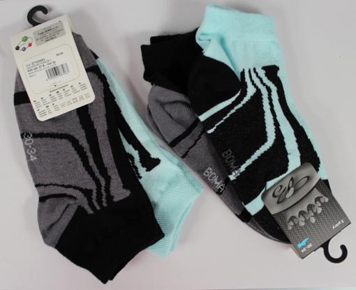 Obrázok z BOMA ponožky KIKI dět. 07 2pár mix / mátová + černá 10 pack