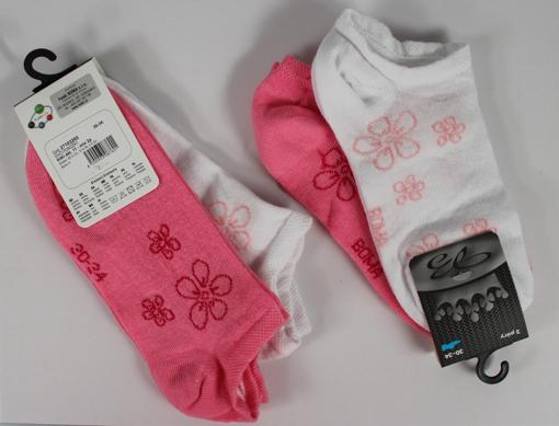 Obrázok z BOMA ponožky KIKI dět. 11 2pár mix / bílá + magenta 10 pack