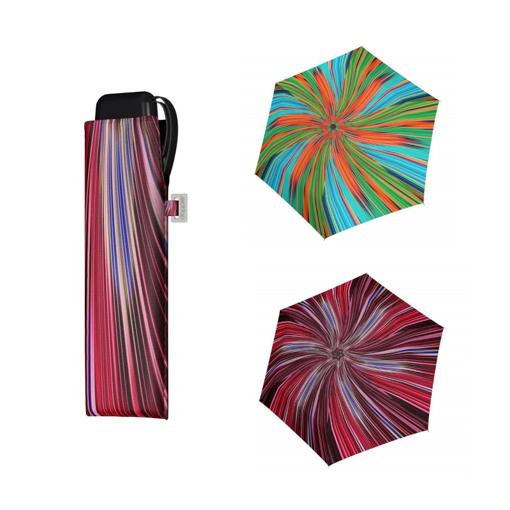 Obrázok z Doppler Mini Slim Carbonsteel FANTASY Dámsky plochý skladací dáždnik