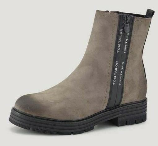 Obrázok z Tom Tailor 2191308 Dámska členková obuv taupe