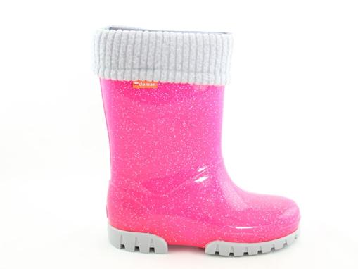 Obrázok z Demar STORMER LUX 0406 G ružové Detské zateplené gumáky