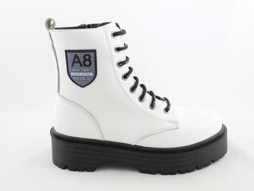 Obrázok z Wild 0541528121943A Dámske celokožené členkové topánky white