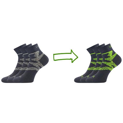 Obrázok z VOXX ponožky Franz 05 tmavě šedá 3 pár