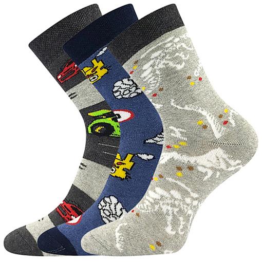 Obrázok z BOMA ponožky Sibiř dětská 07 mix A - kluk 3 pár